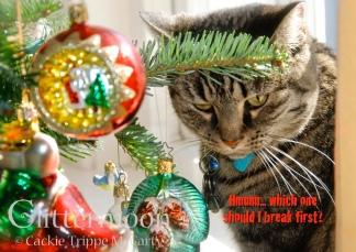 Gabby Breaks It Glittermoon Christmas Card