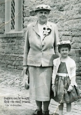 Me and my grandmother on Easter Sunday